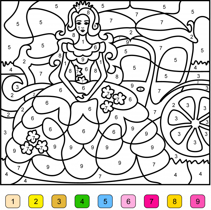 Princess Color By Number