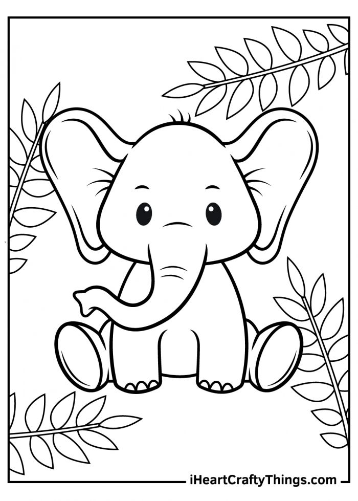 Printable Baby Animals Coloring Pages Updated
