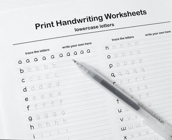 Printable Handwriting Worksheets Pages Letters Words And