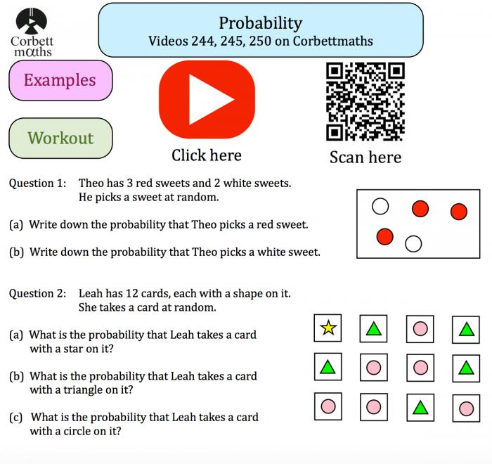 Probability Textbook Exercise Corbettmaths