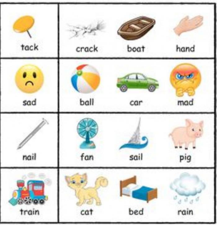 Rhyming Words Interactive Activity