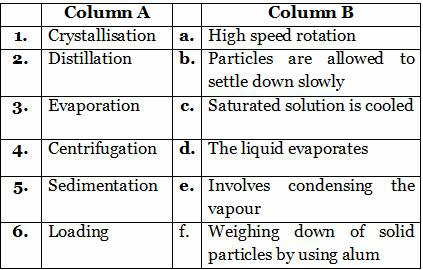 Separation Of Substances Th Cbse Science Worksheets