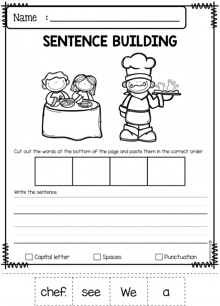 September Sentence Building Has Pages Of Sentence Building