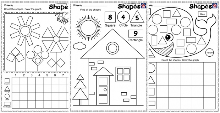 Shape And Counting Worksheets Teachersmagcom