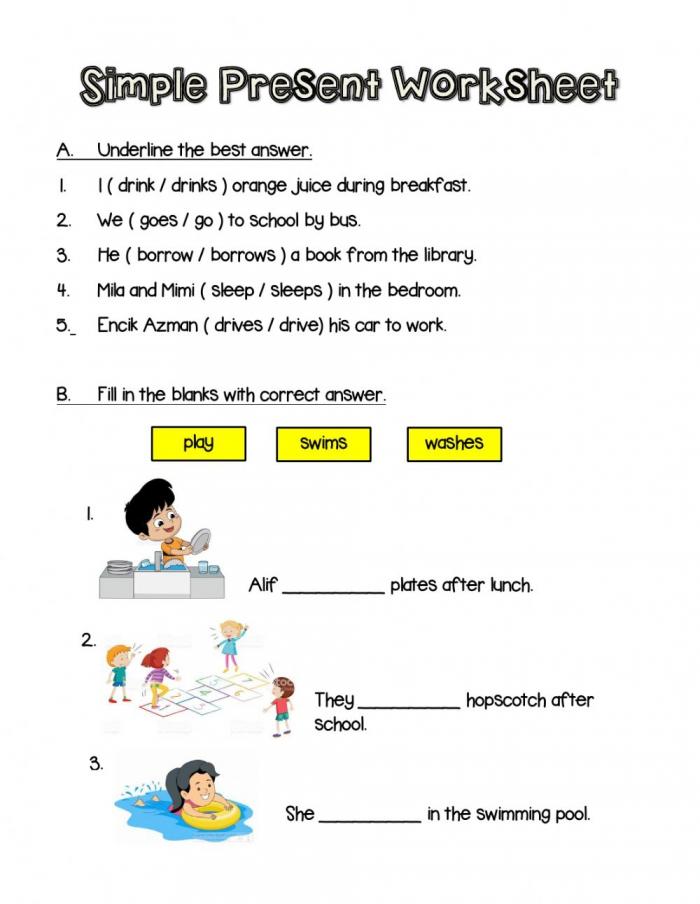 Simple Present Online Pdf Worksheet