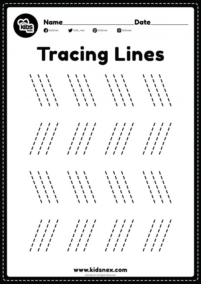 Slanting Line Worksheet