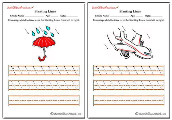 Slanting Lines Worksheets
