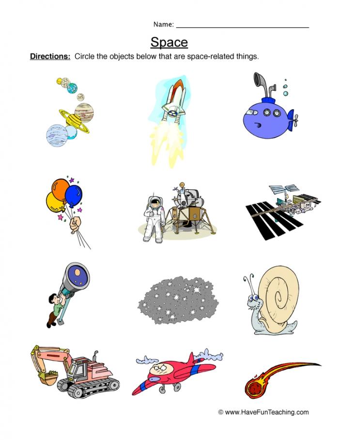 Solar System Sort Worksheet Have Fun Teaching