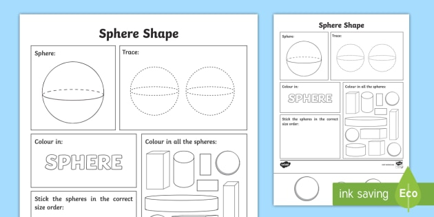 Sphere Shape Worksheet