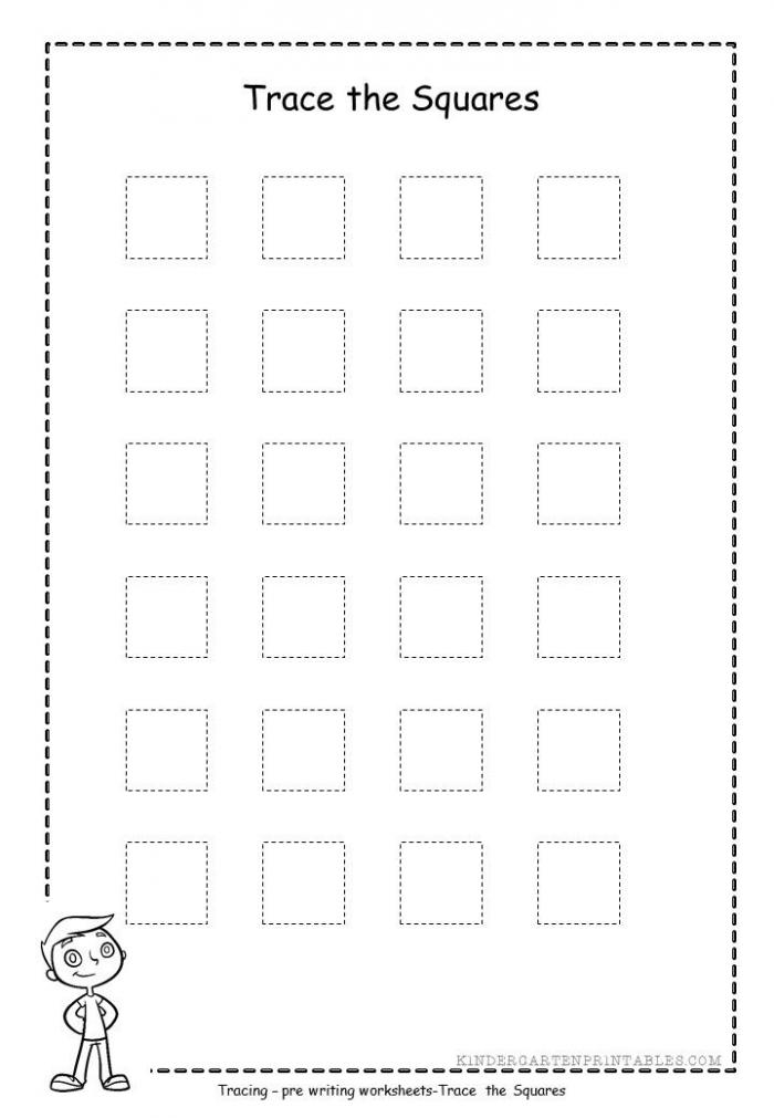Square Shape Tracing Worksheets Free Printable Square Shape