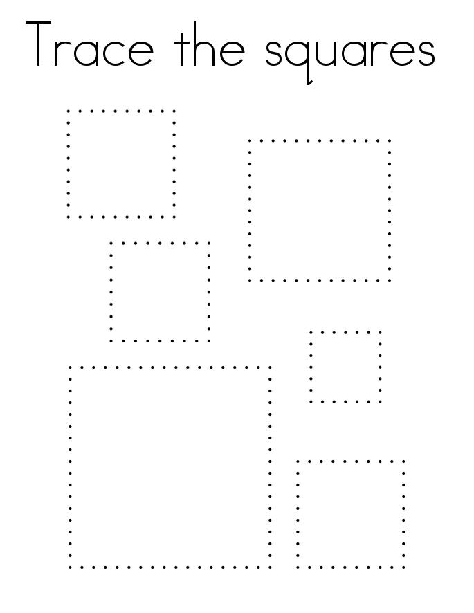 Square Tracing Worksheet Printable Kids Worksheets