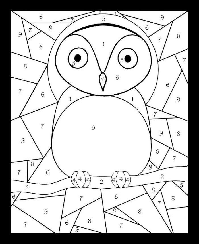 Stained Glass Owl Color By Number Digital Art By Grace Joy