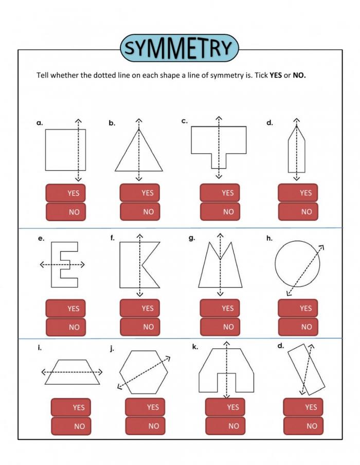 Symmetry Worksheet For Grade
