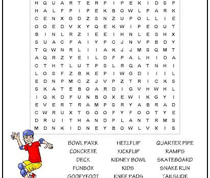 Tag Sports Word Search