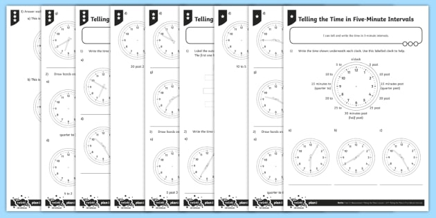 Telling The Time Worksheets In