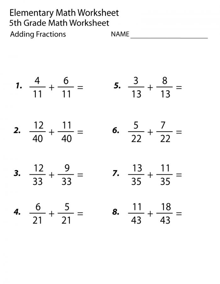 Th Grade Worksheets Math And English