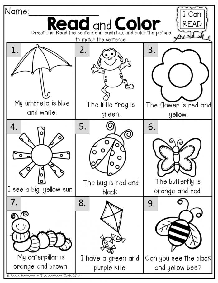 The Moffatt Girls Spring Math And Literacy Packet Kindergarten