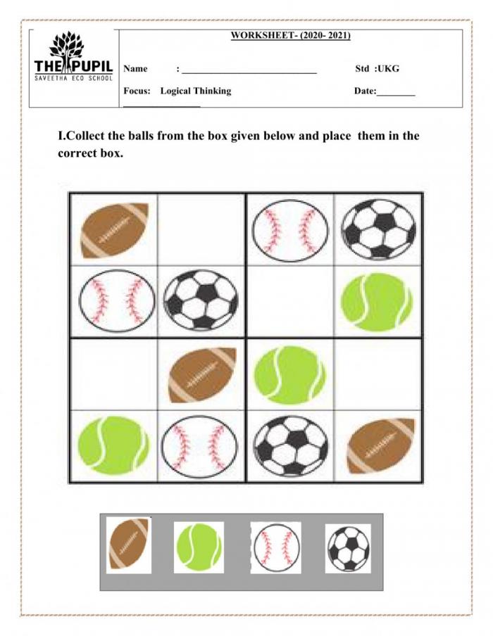 Thinking Skills Worksheet
