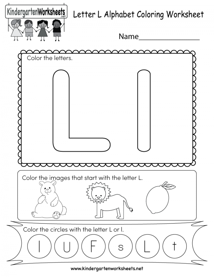 This Is A Cute Letter L Worksheet For Kindergarteners Kids Can