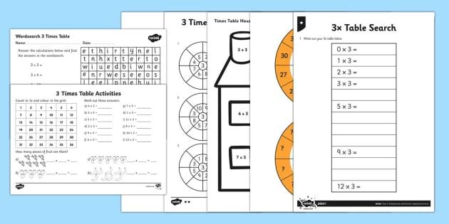 Times Table Worksheet