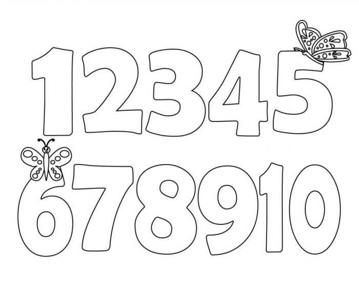Toddler Coloring Pages Numbers
