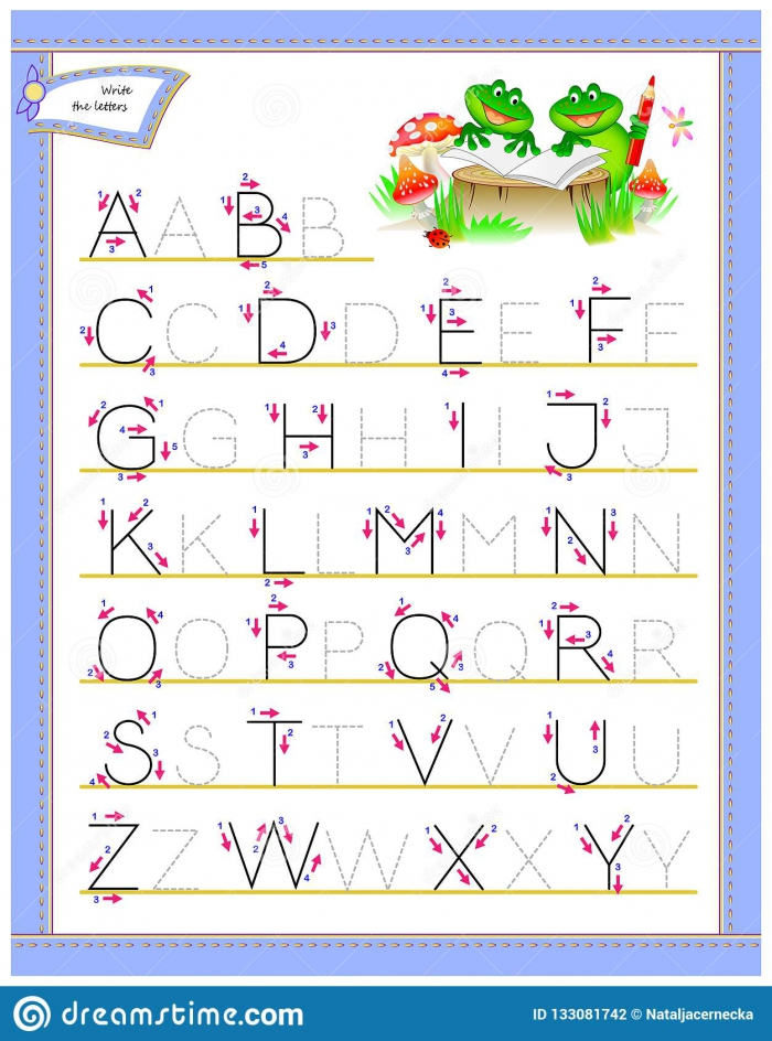 Tracing Abc Letters For Study English Alphabet Worksheet For Kids