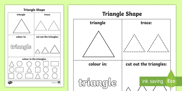 Triangle Template Worksheet