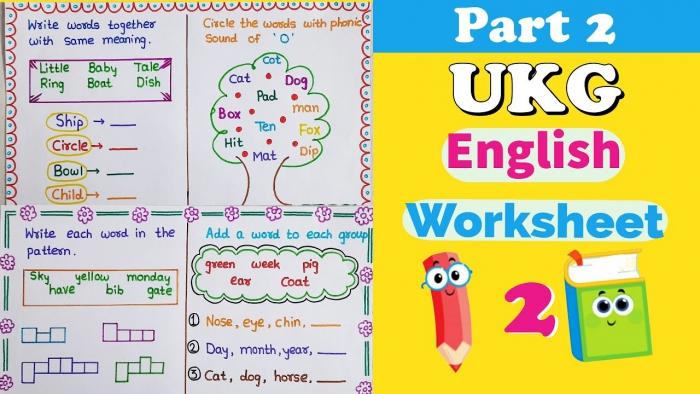 Ukg English Worksheet English Worksheet For Ukg Senior Kg