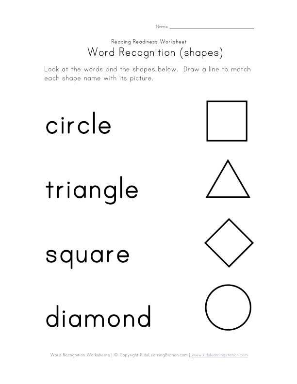 Word Recognition Worksheets
