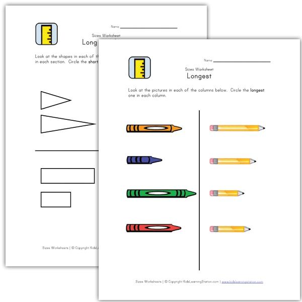 Worksheets For Children Teach Length