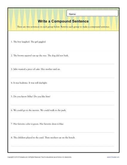 Write A Compund Sentence