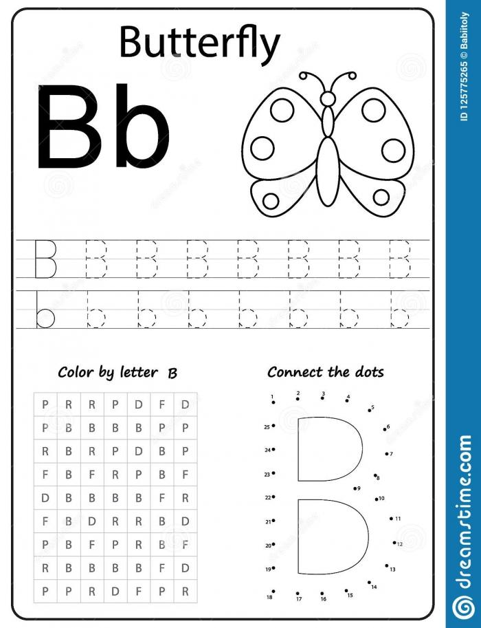 Writing Letter B Worksheet Writing A