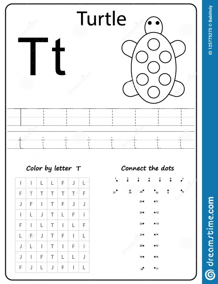 Writing Letter T Worksheet Writing A
