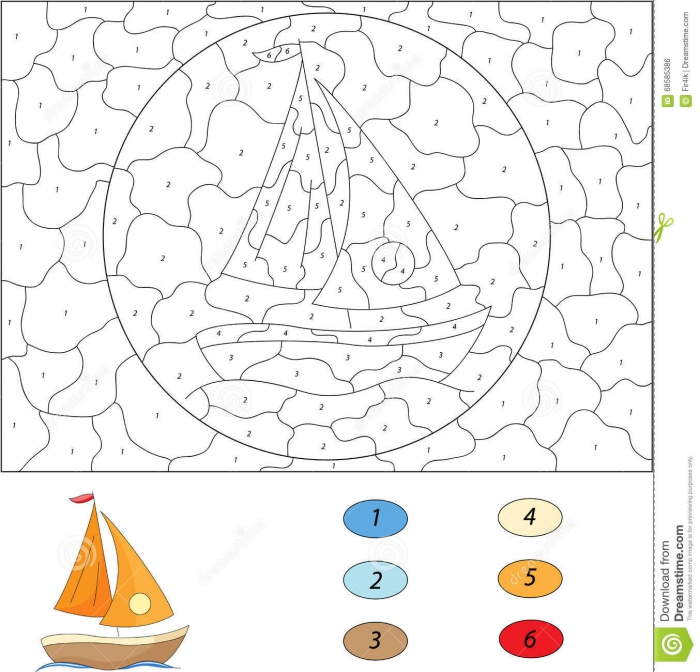 Yacht Color Stock Illustrations Yacht Color Stock