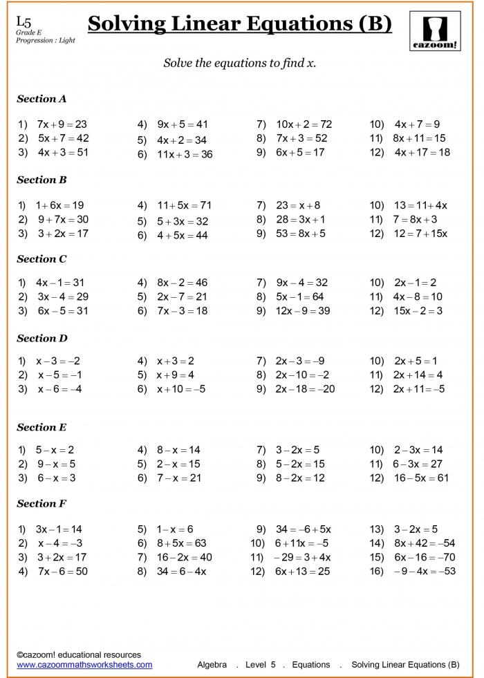 Year Maths Worksheets