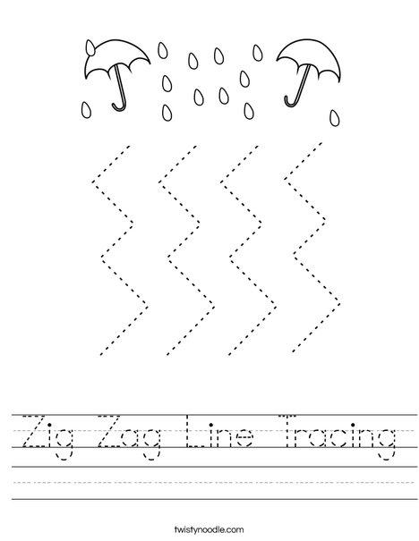 Zig Zag Line Tracing Worksheet