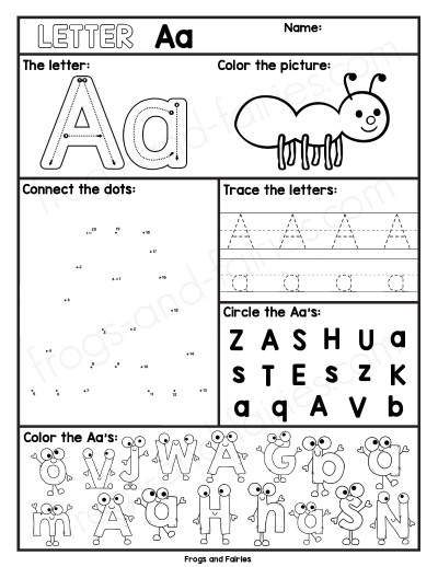 Alphabet Letter Worksheets A
