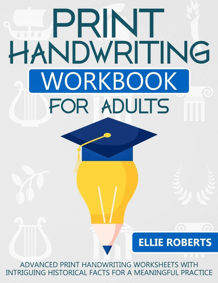 Amazoncom Print Handwriting Workbook For Adults Advanced Print