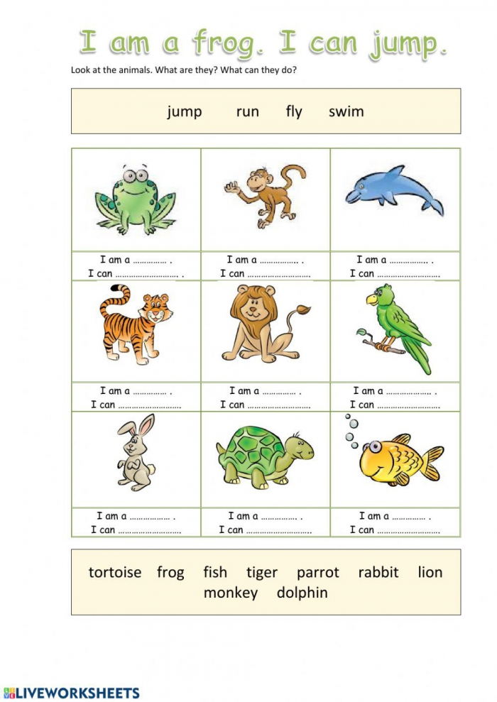 Animals Online Exercise For Grade