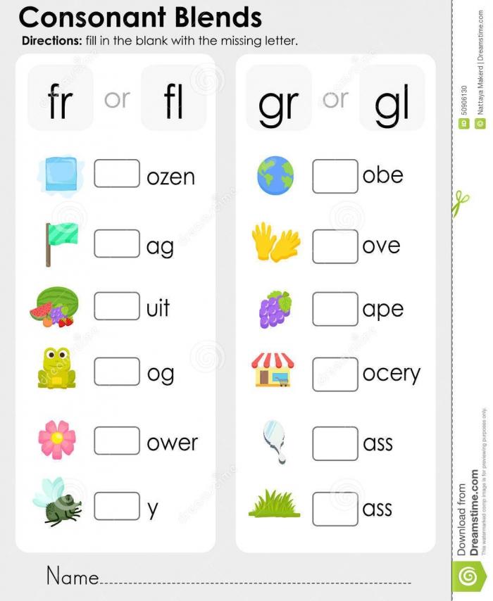Blends Worksheets Consonant Blends Worksheets Phonics Worksheets