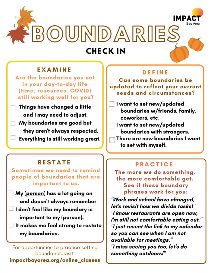 Boundaries Check In Worksheet