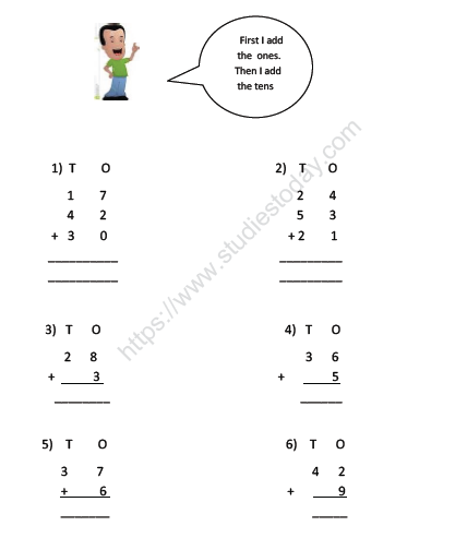 Cbse Class Maths Tens Ones Worksheet Practice Worksheet For