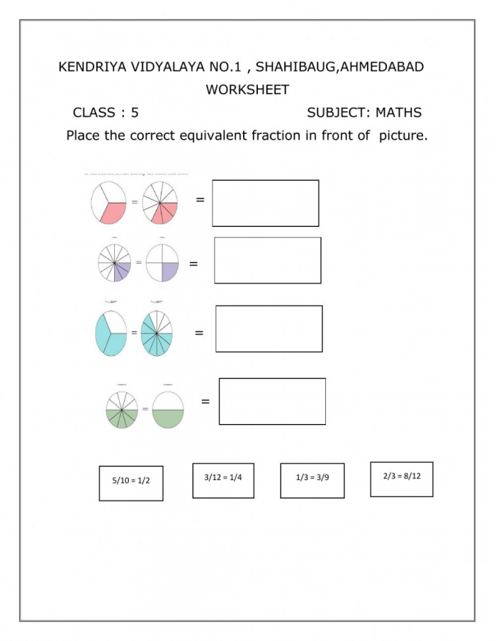 Maths Worksheets For Class 5