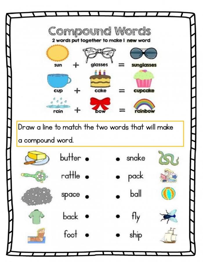 Compound Words Online Worksheet For Grade
