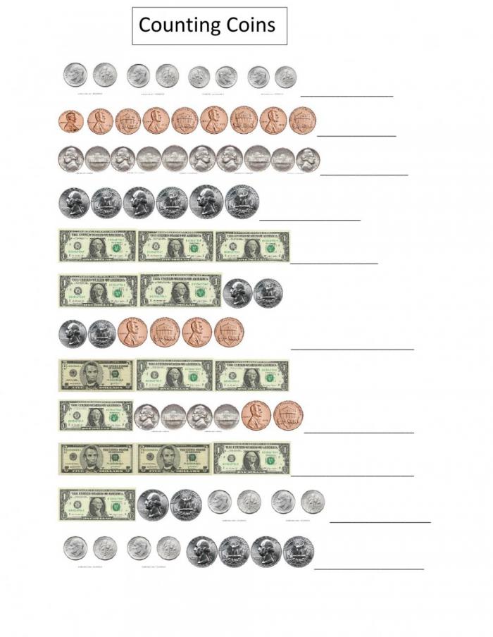 Counting Money Online Worksheet For Grade
