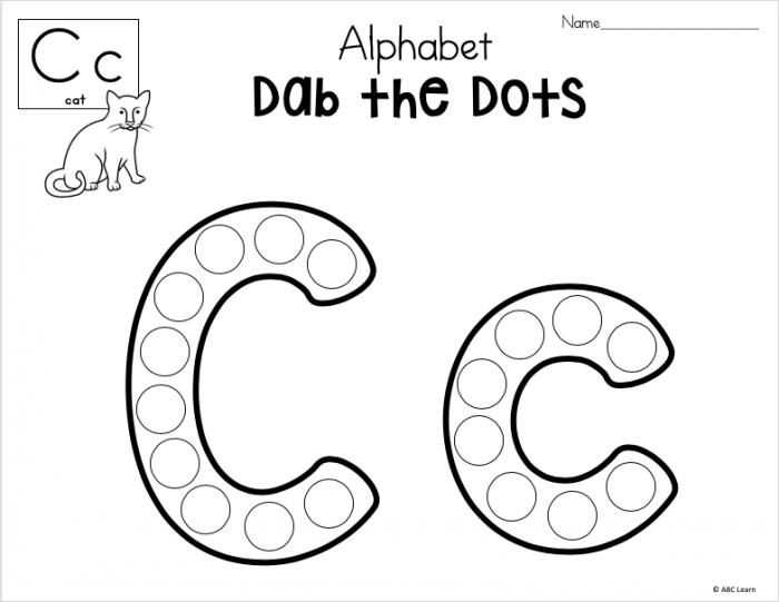 Dab The Alphabet Worksheets