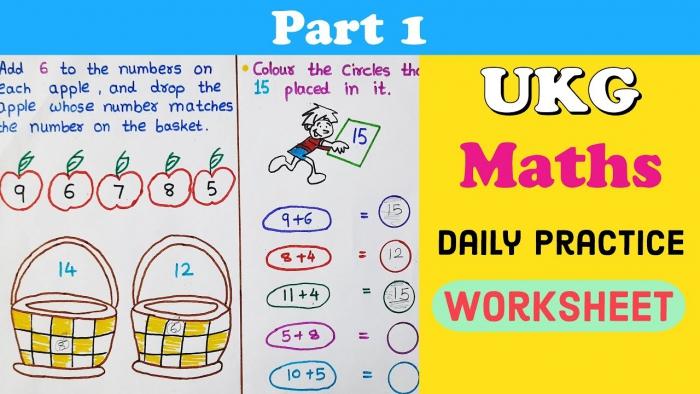 Daily Practice Worksheets For Ukg Ukg Maths Worksheet Maths