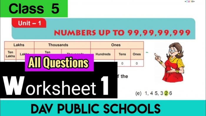 Dav Class Maths Chapter Worksheet