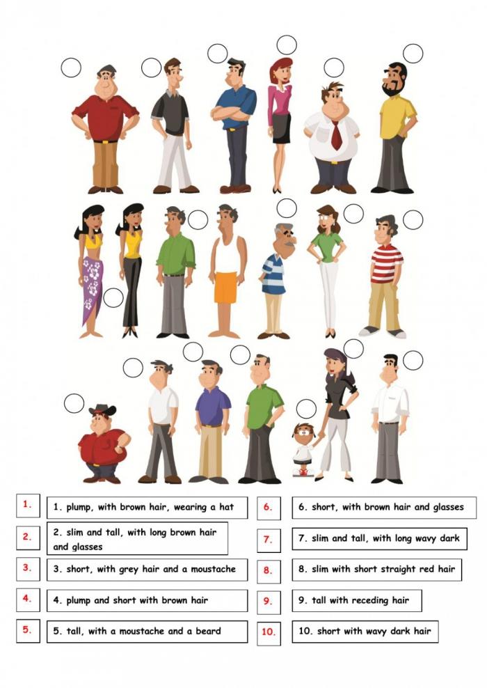 Describe People Worksheet