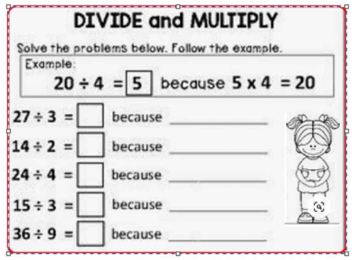 Division Exercise For Grade
